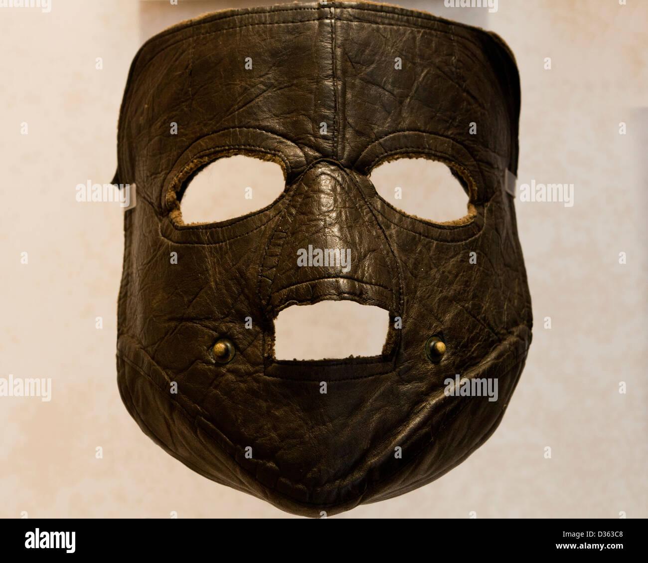 Cuoio maschera facciale Immagini Stock