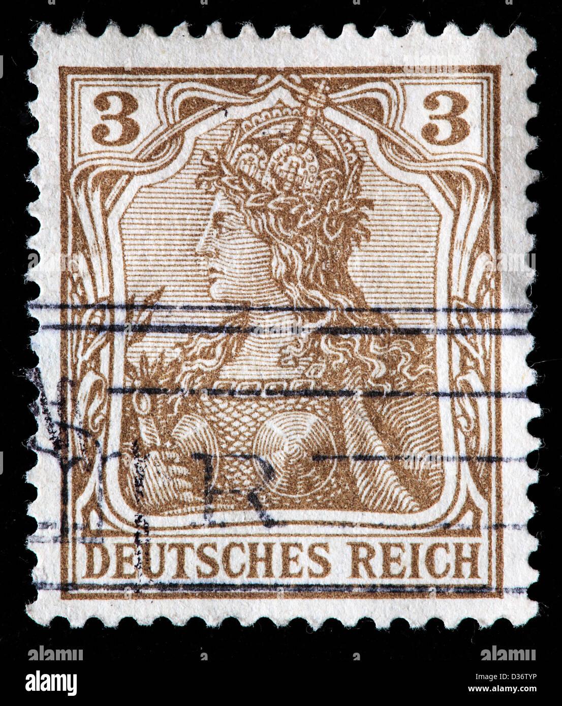 Germania, francobollo, Germania, 1902 Immagini Stock