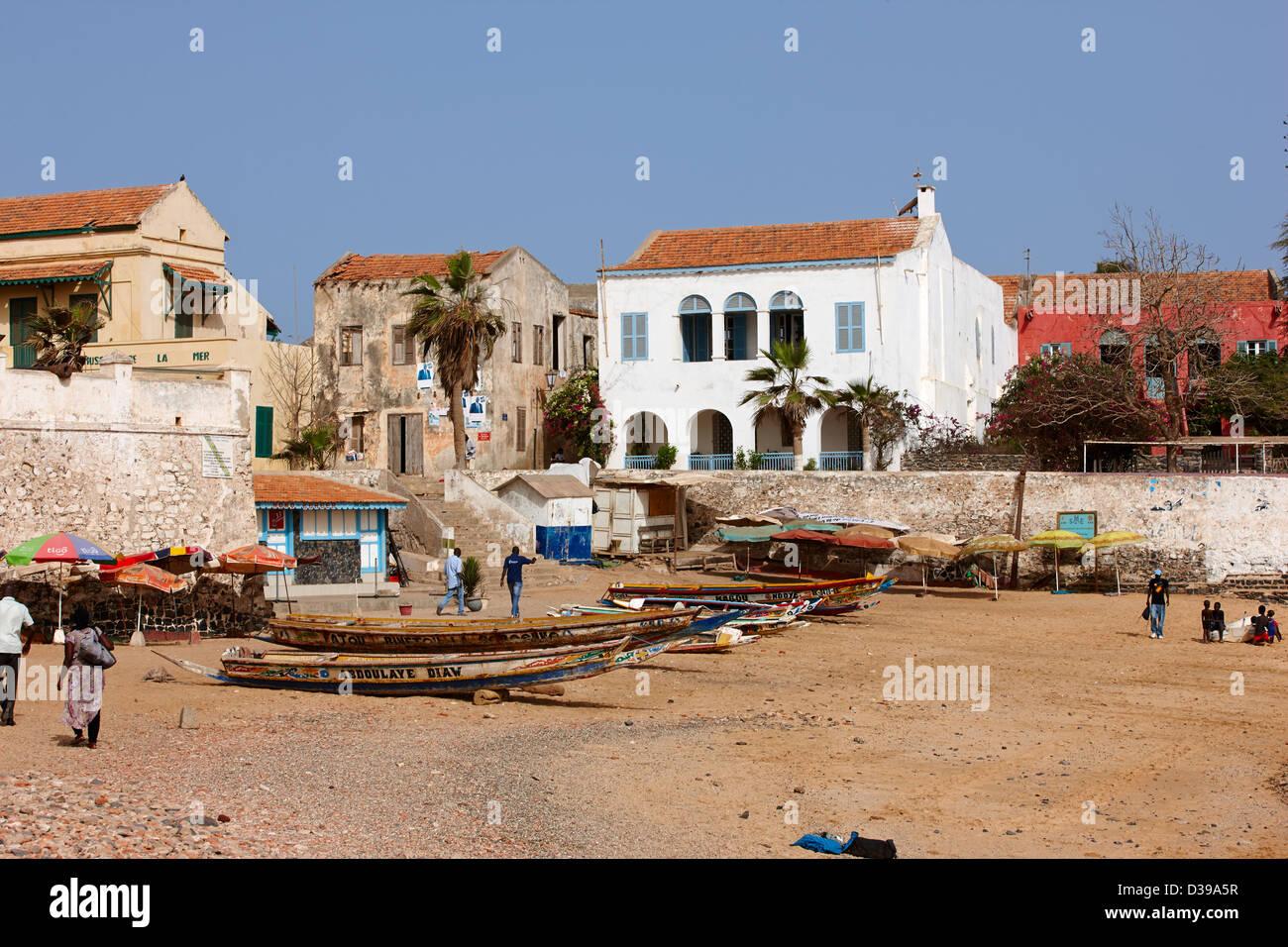 Ile de Goree, Senegal Africa Immagini Stock