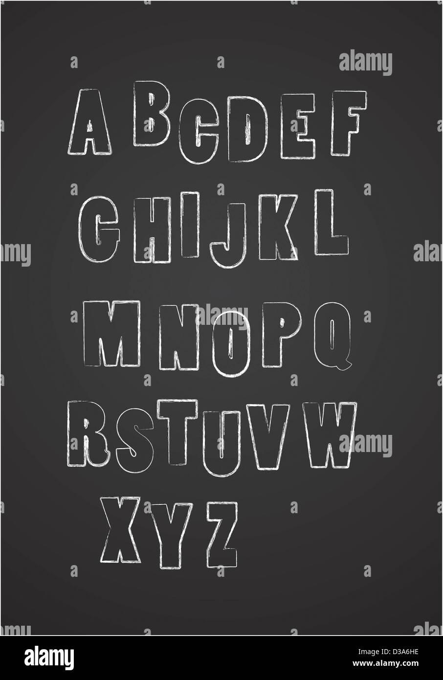 Alfabeto Immagini Stock