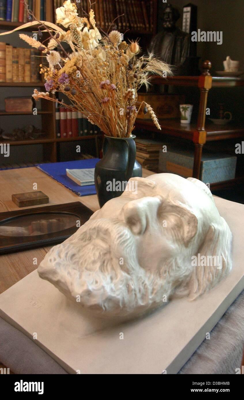 (Dpa) - La maschera della morte di uno zoologo tedesco Ernst Haeckel (1834-1919) risiede nel originariamente conservati Immagini Stock