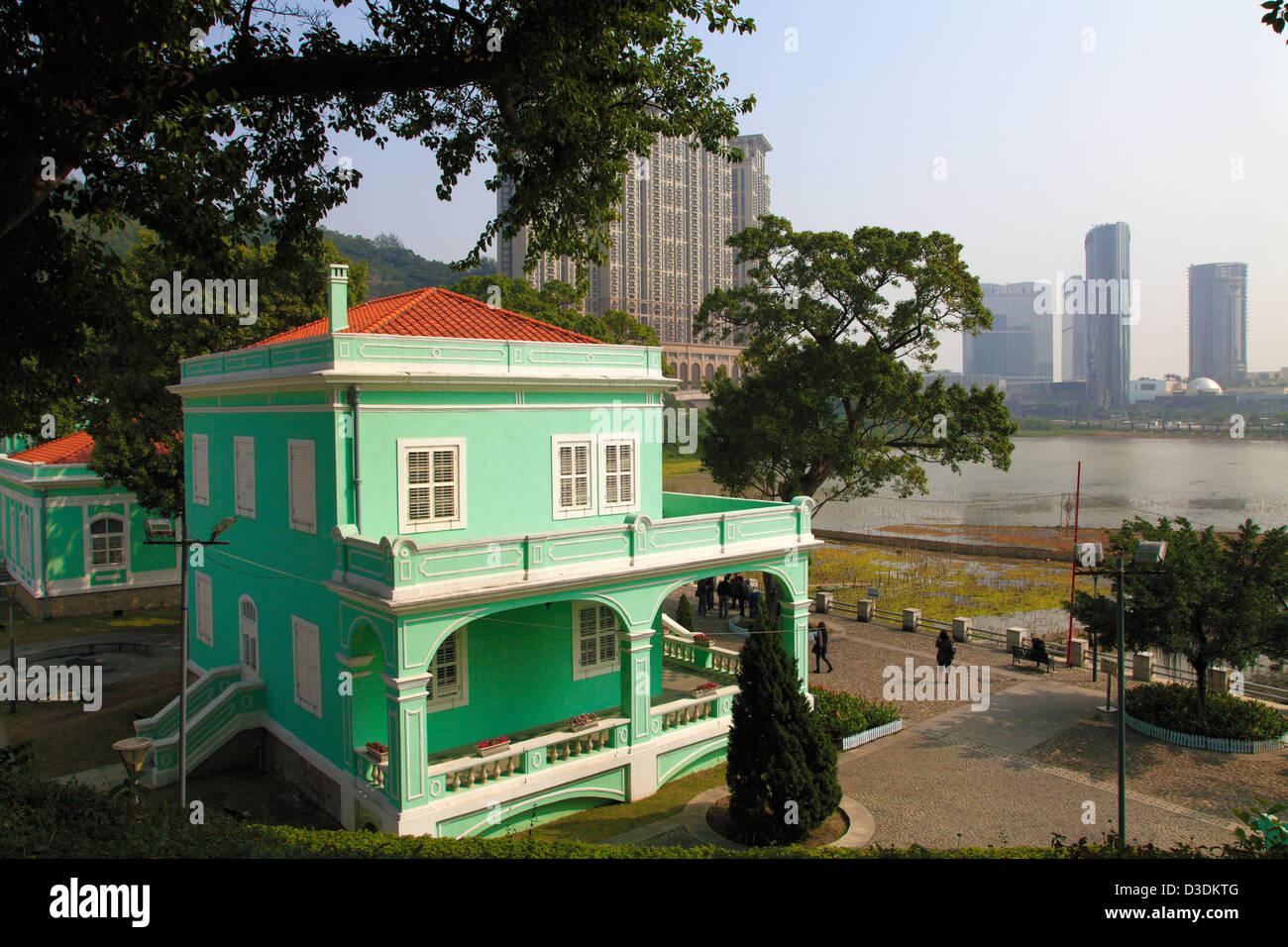 Cina, Macau Taipa Village, portugese architettura coloniale, Immagini Stock