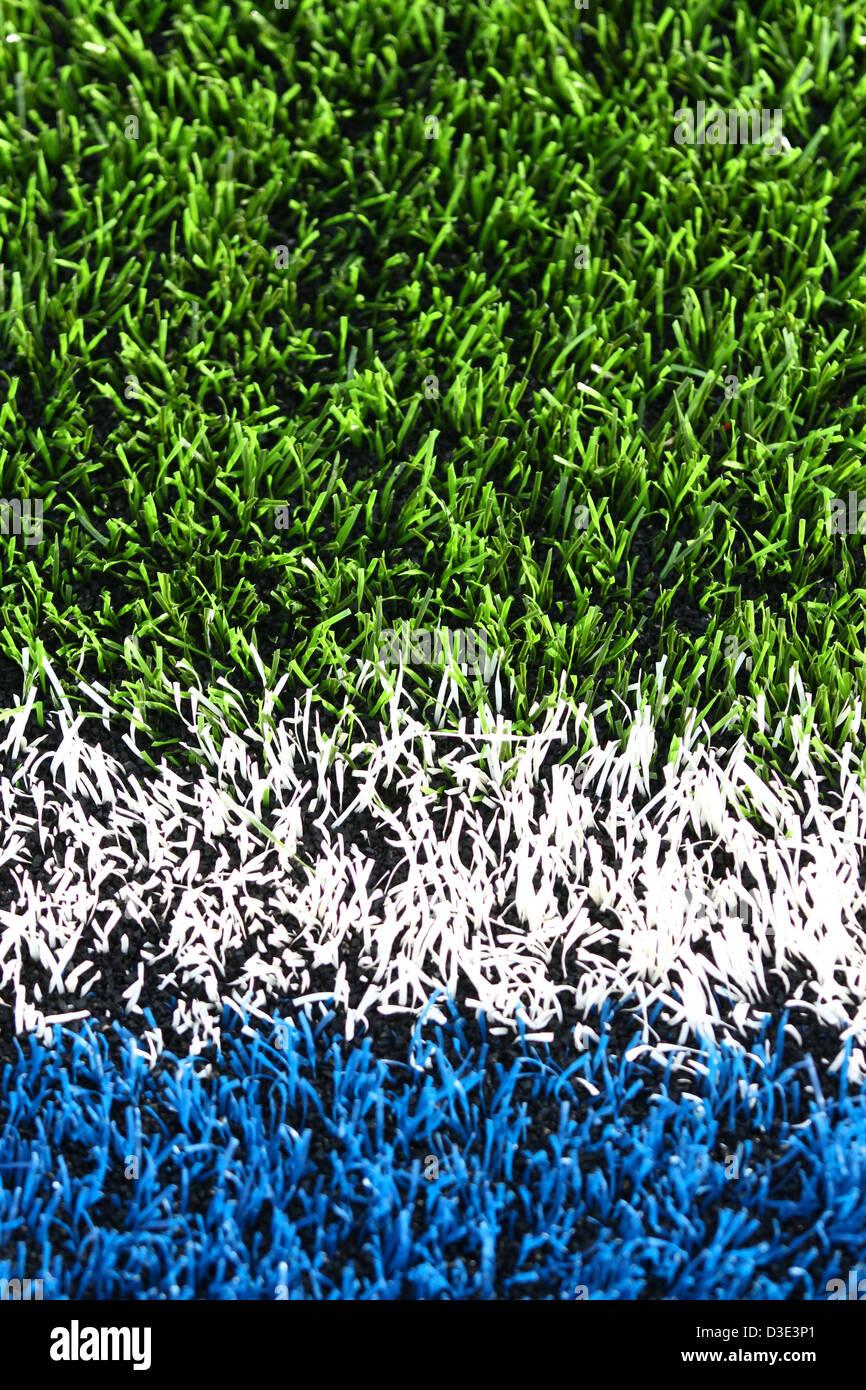 Hendon, a nord di Londra, UK Saraceni v Exeter Chiefs rugby Febbraio 16, 2013 Un close-up del passo artificiale. Immagini Stock