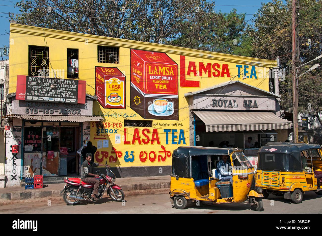 Lamsa Tea Shop di Hyderabad, India Andhra Pradesh Immagini Stock