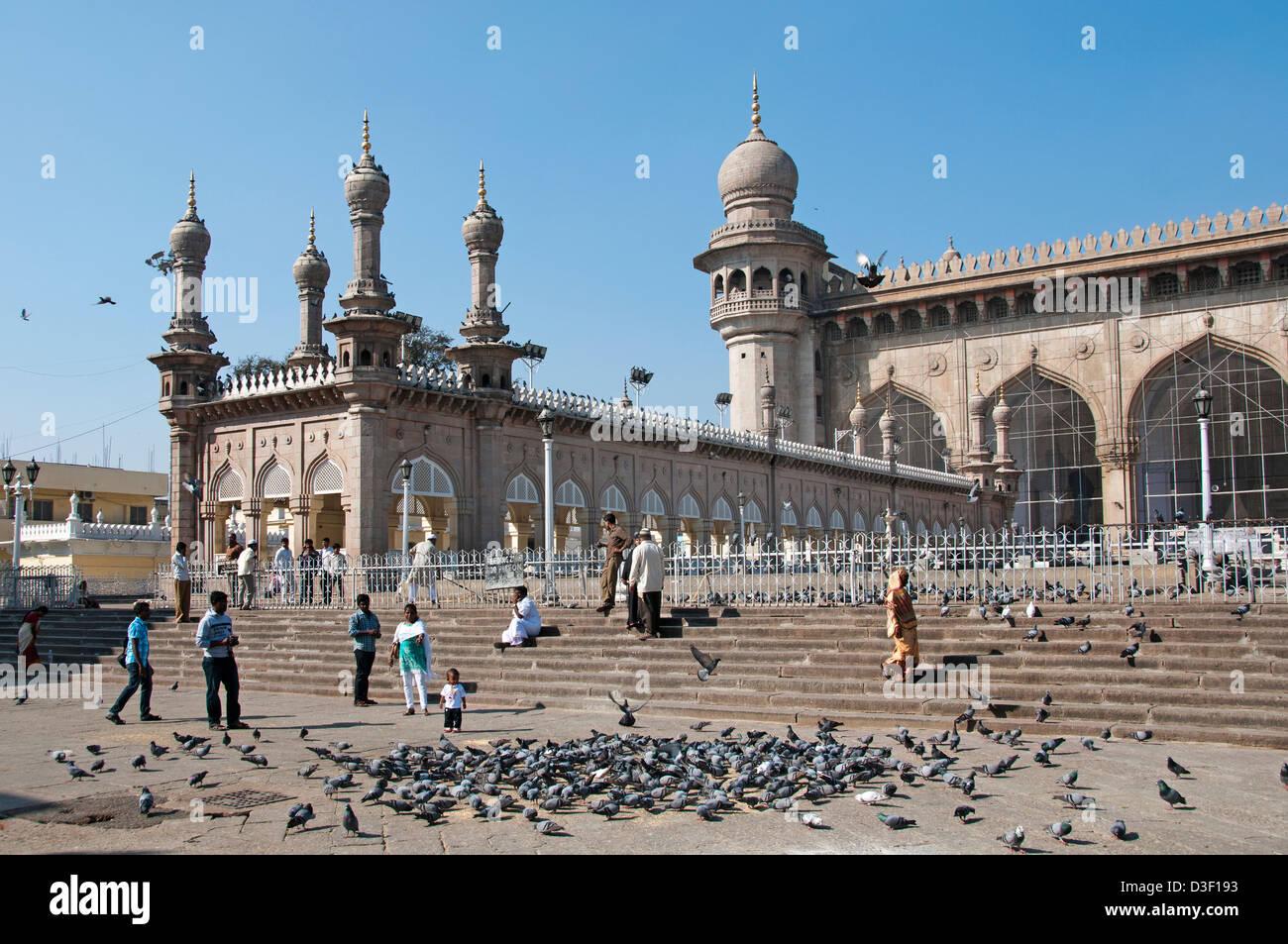 La moschea di Mecca vicino Charminar Hyderabad India Andhra Pradesh Immagini Stock