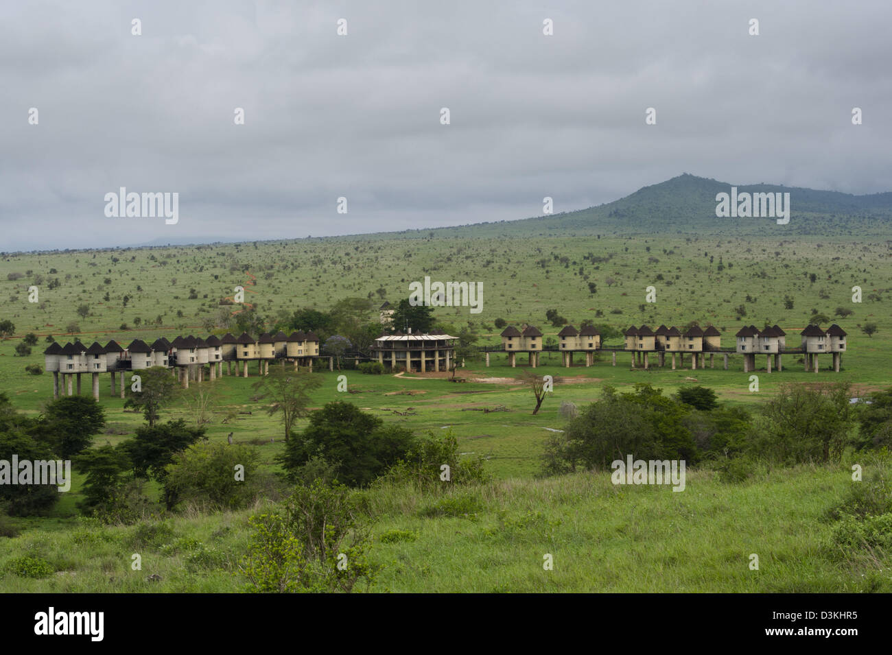 Sarova Salt Lick Lodge, Taita Hills Wildlife Sanctuary, Kenya Immagini Stock
