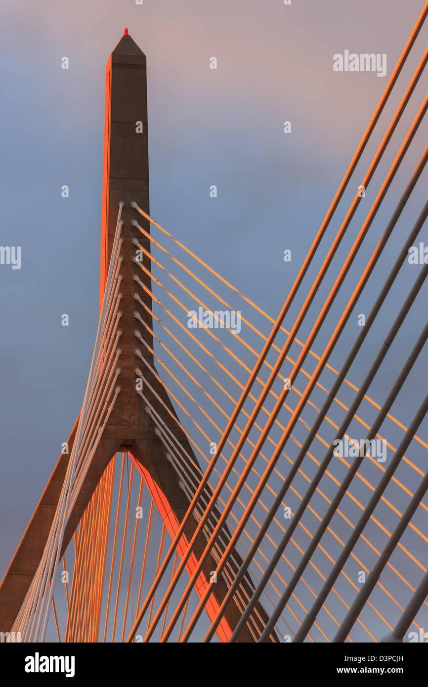 Leonard P. Zakim Bunker Hill Memorial Bridge Immagini Stock