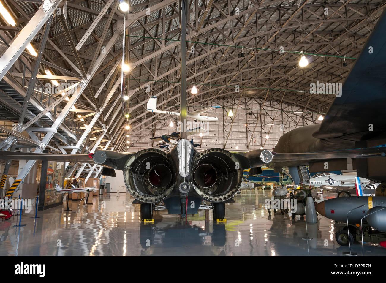 General Dynamics F-111 Aardvark, Ali sopra le Montagne Rocciose Museo dell'aria e dello spazio, Denver, Colorado. Immagini Stock