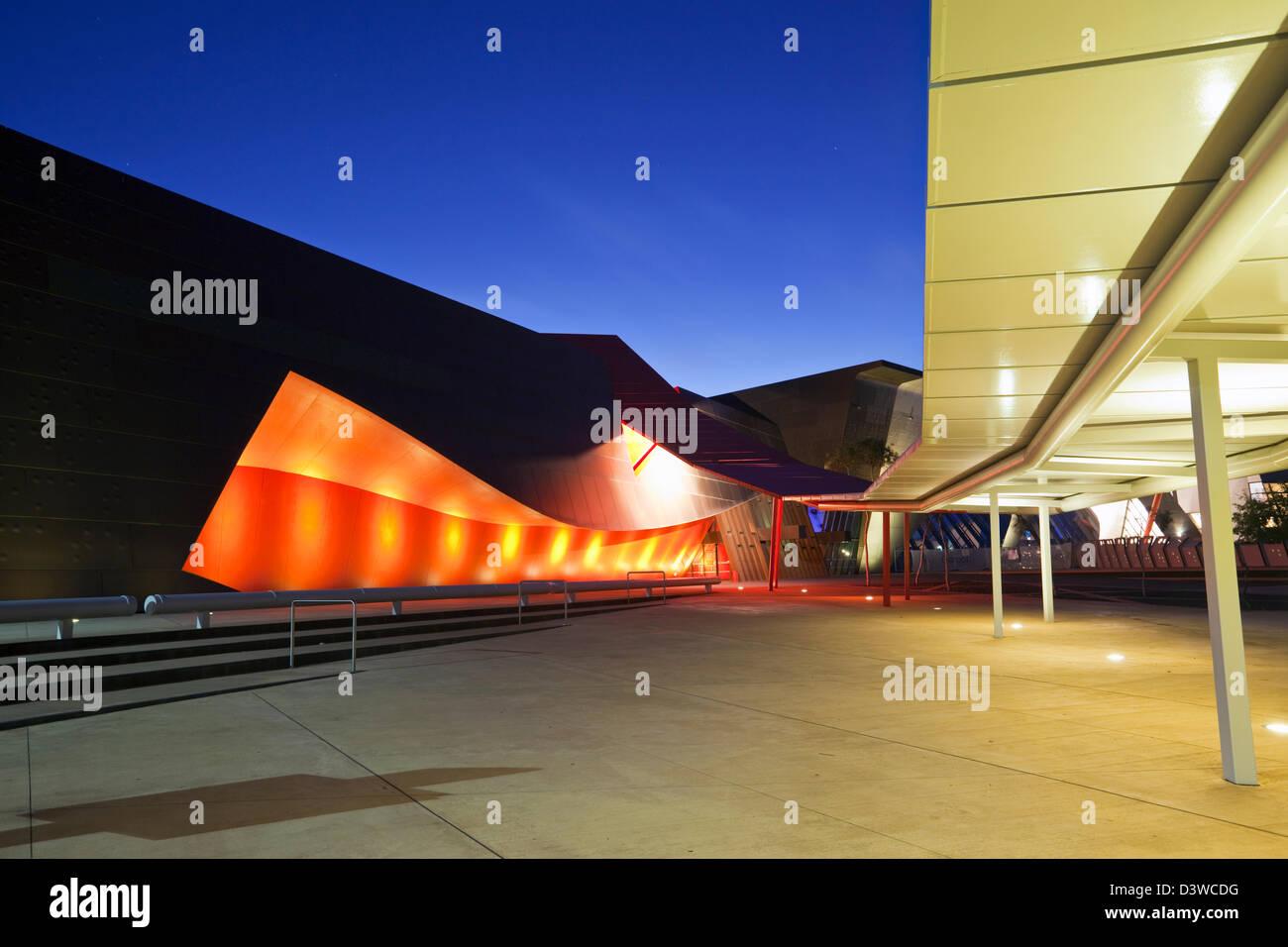 Architettura dell'ingresso al Museo Nazionale di Australia. Canberra, Australian Capital Territory (ACT), Australia Immagini Stock