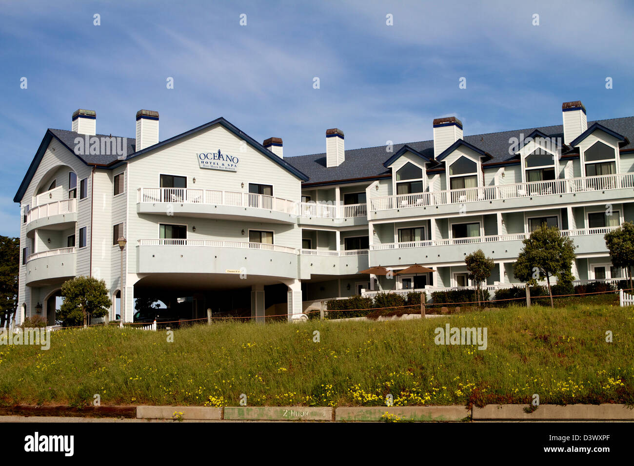 L'Oceano hotel e spa di half Moon Bay California USA Immagini Stock