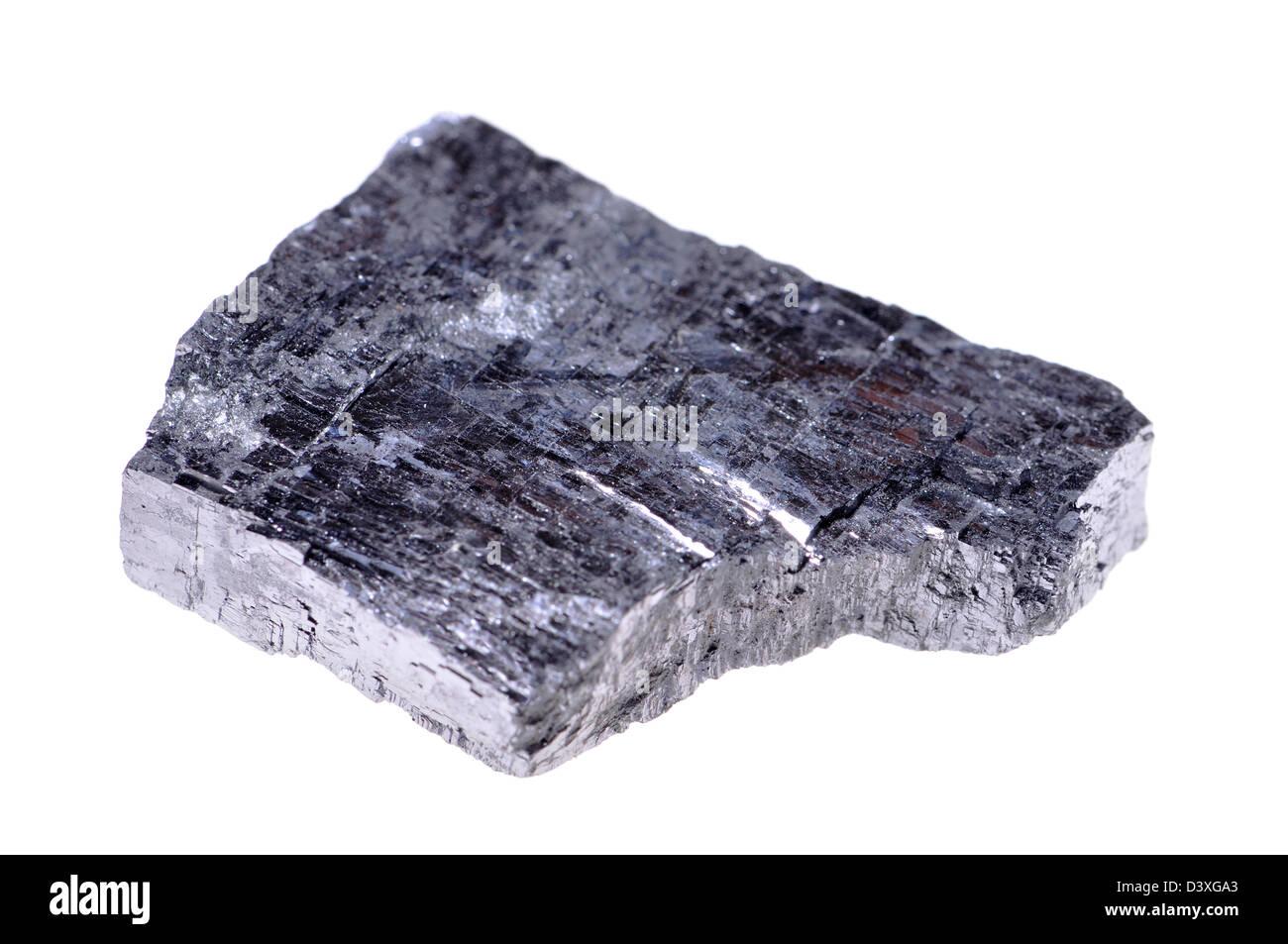 La Galena (solfuro di piombo) principali minerali di piombo. Immagini Stock