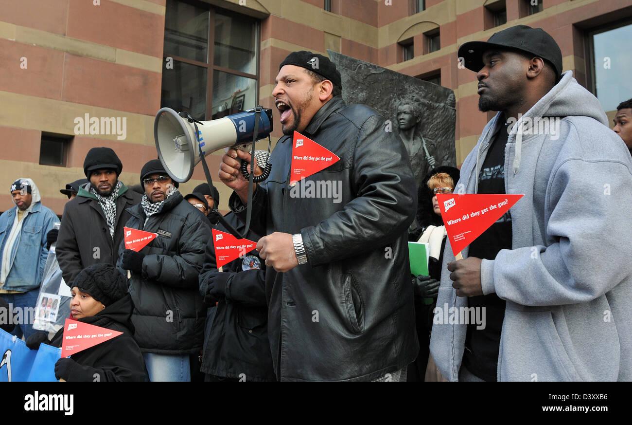 Pistola anti violenza rally in New Haven CT STATI UNITI D'AMERICA Immagini Stock