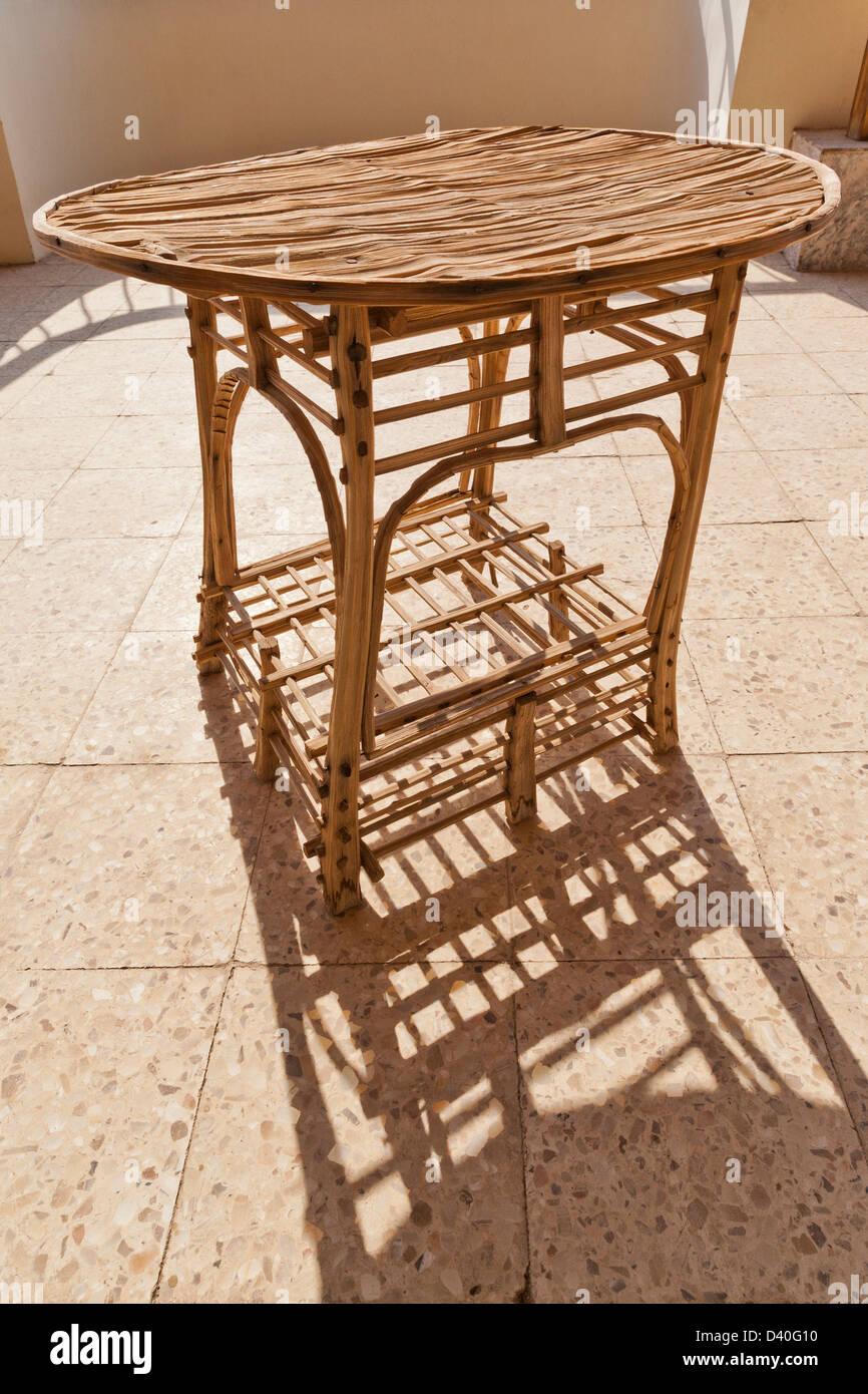 Tipo di canna di mobili realizzati da fronde di palma in Egitto Africa Immagini Stock
