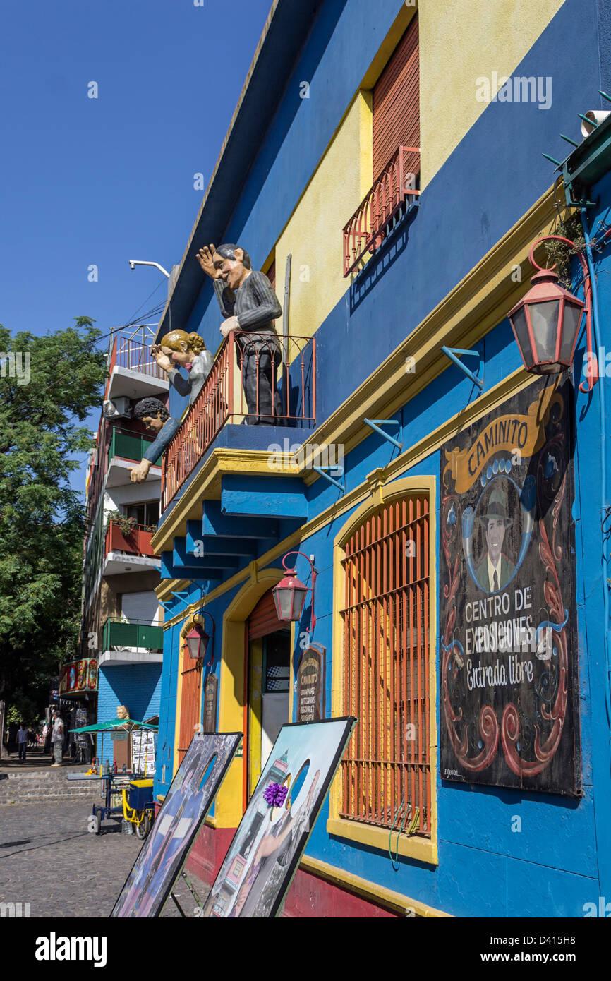 Caminito Centro de Exposiciones, Galleria d'arte, La Boca, Buenos Aires Immagini Stock
