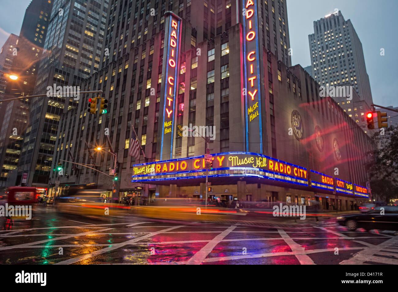 Radio Music Hall, Manhattan, New York City, Stati Uniti d'America Immagini Stock