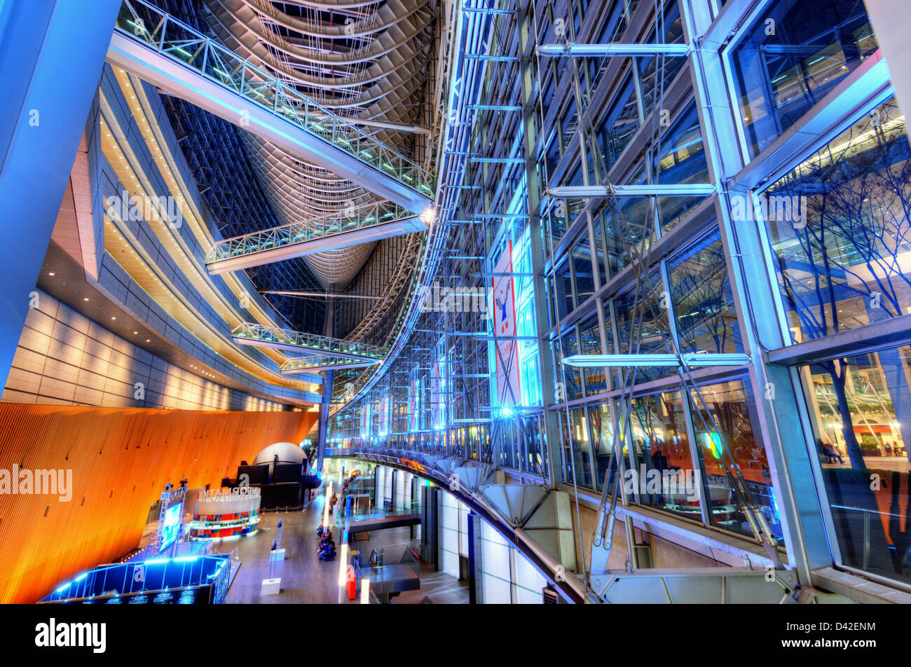 Forum internazionale nel quartiere di Ginza di Tokyo, Giappone. Immagini Stock