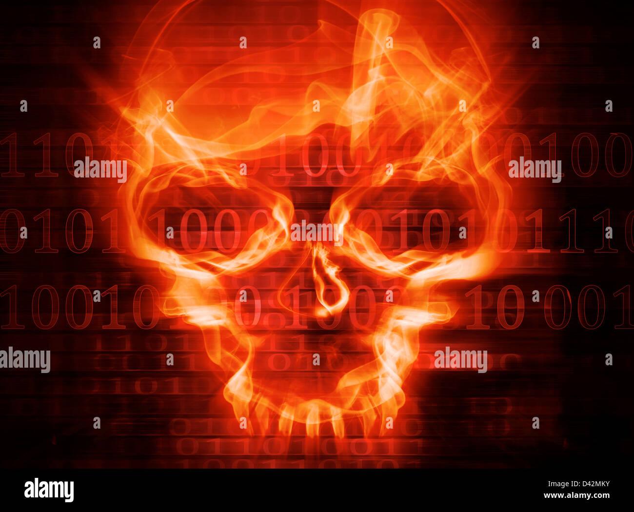 Attacco hacker concetto sfondo Immagini Stock