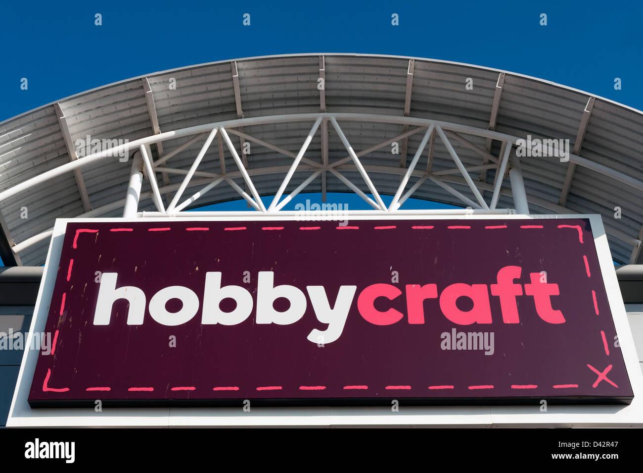 Hobby Craft shop in Hereford, Regno Unito. Immagini Stock