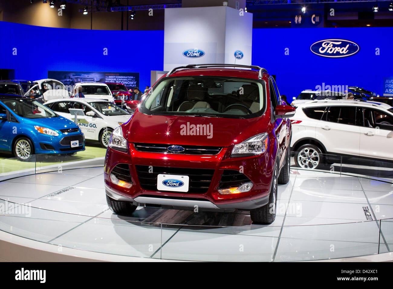 Un 2013 Ford Escape sul display a 2013 Washington, DC Auto Show. Immagini Stock