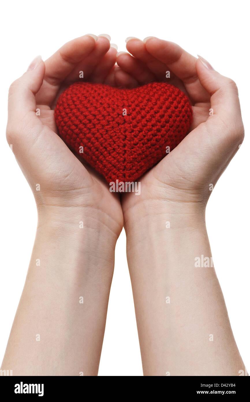 Assicurazione sanitaria o concetto di amore. isolato su sfondo bianco Immagini Stock