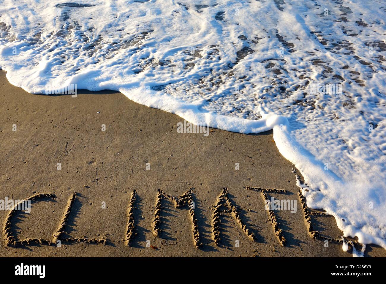 Il cambiamento climatico, gli oceani in aumento Immagini Stock