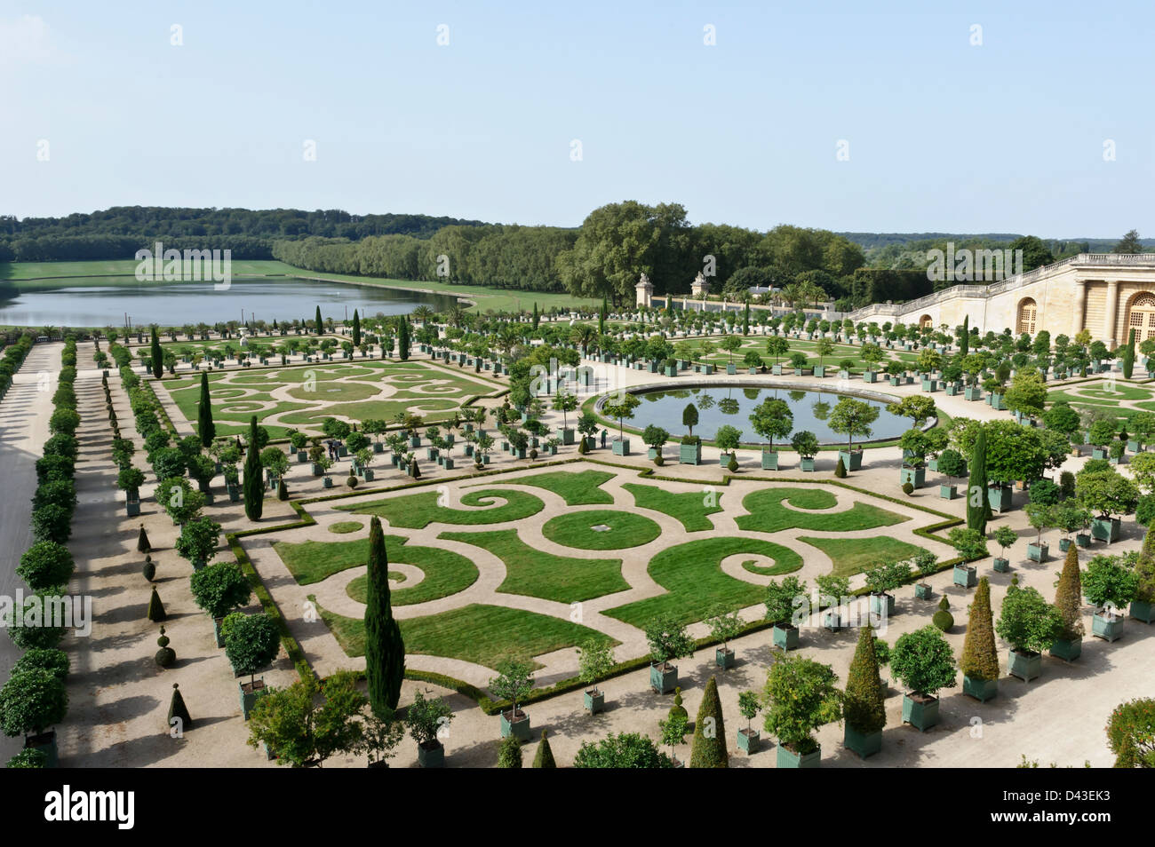 Giardini di versailles chateau de versailles francia foto