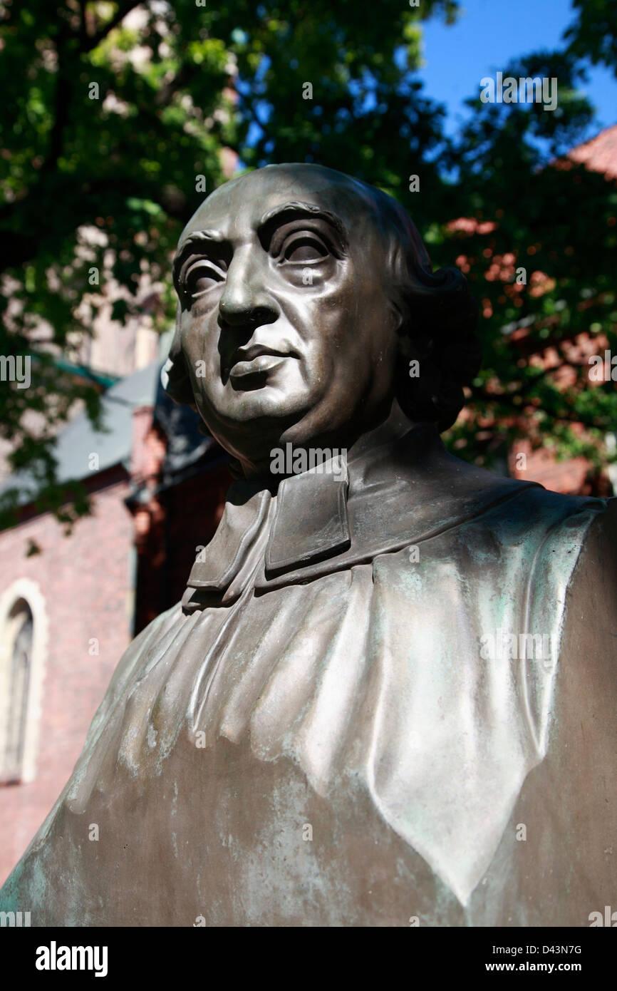 Herder memorial presso la cattedrale di Riga, Lettonia, Europa Immagini Stock