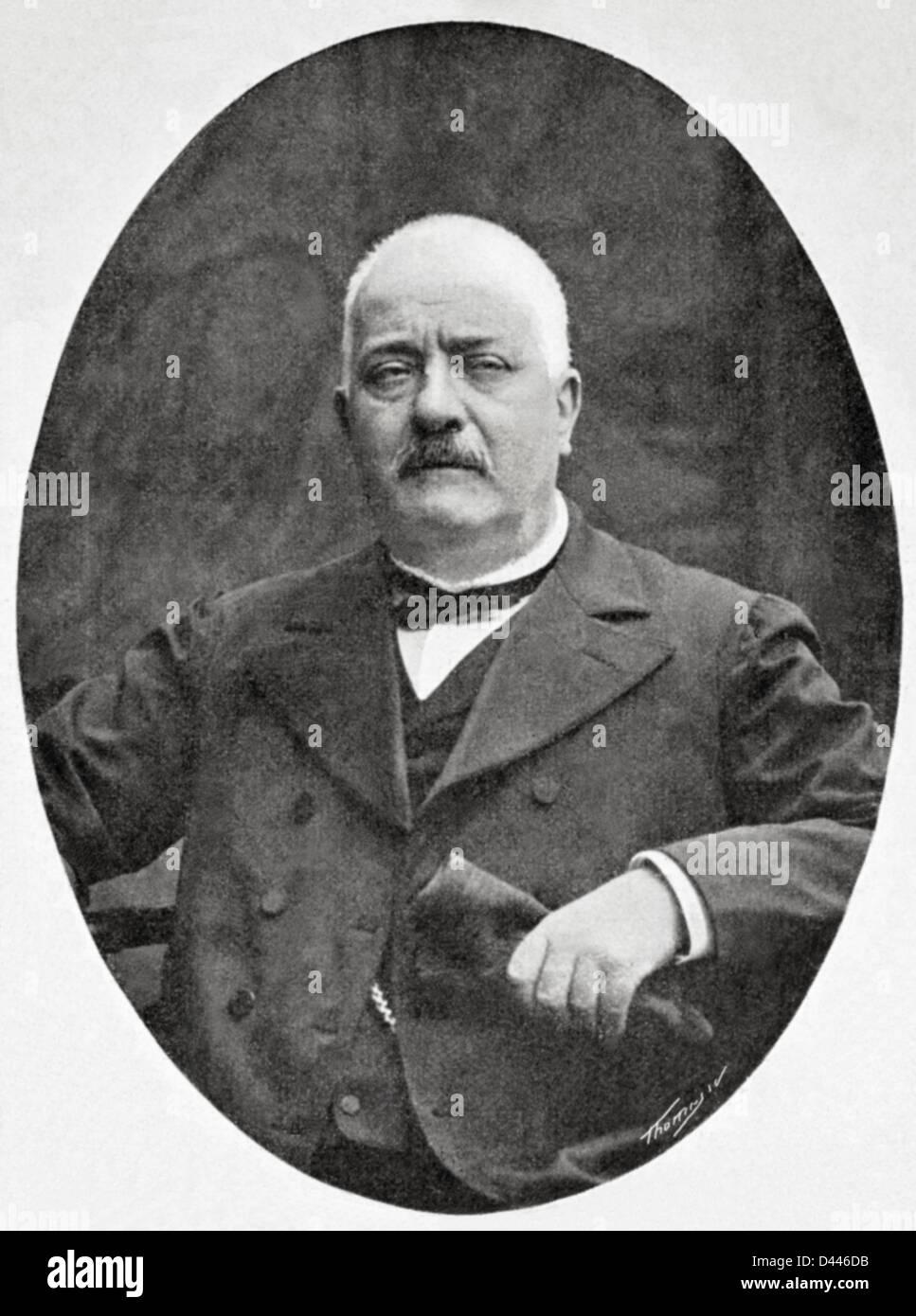 Ramon Batlle Ribas (1837-1906). Spagnolo tecnico e insegnante di materie tessili. Immagini Stock
