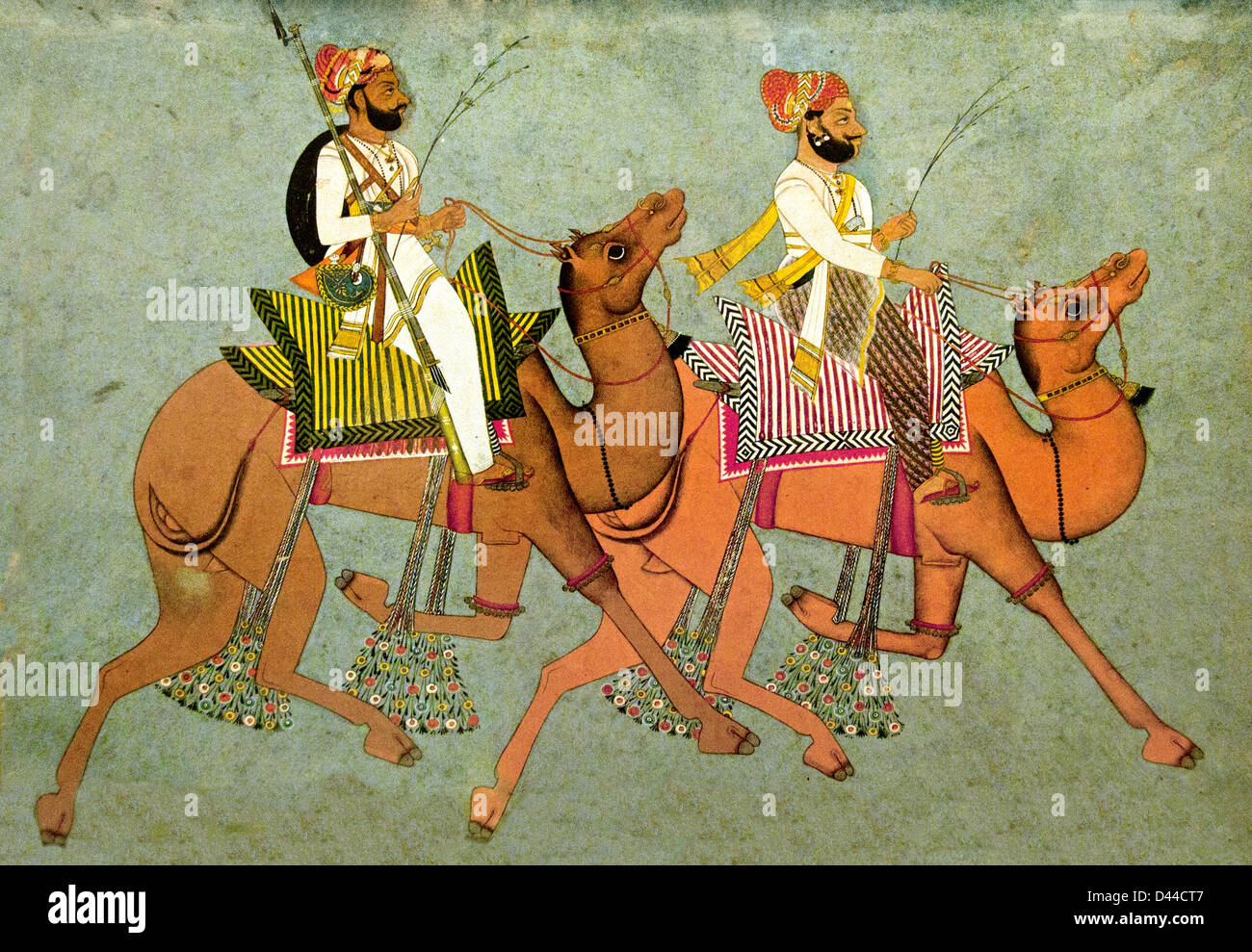 Camel riders 18 Secolo Mawar Rajasthan del Rajasthan in India Immagini Stock