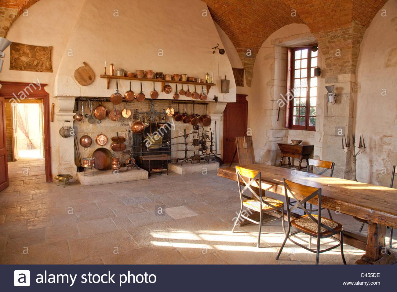 21 Pommard, castello, antica cucina Francia, Europa Foto & Immagine ...