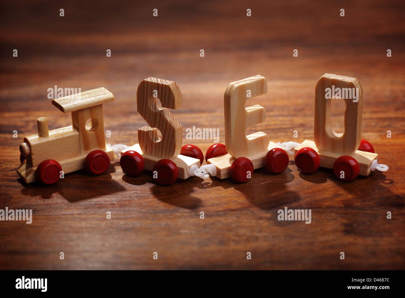 SEO - Ottimizzazione per i motori di ricerca Immagini Stock