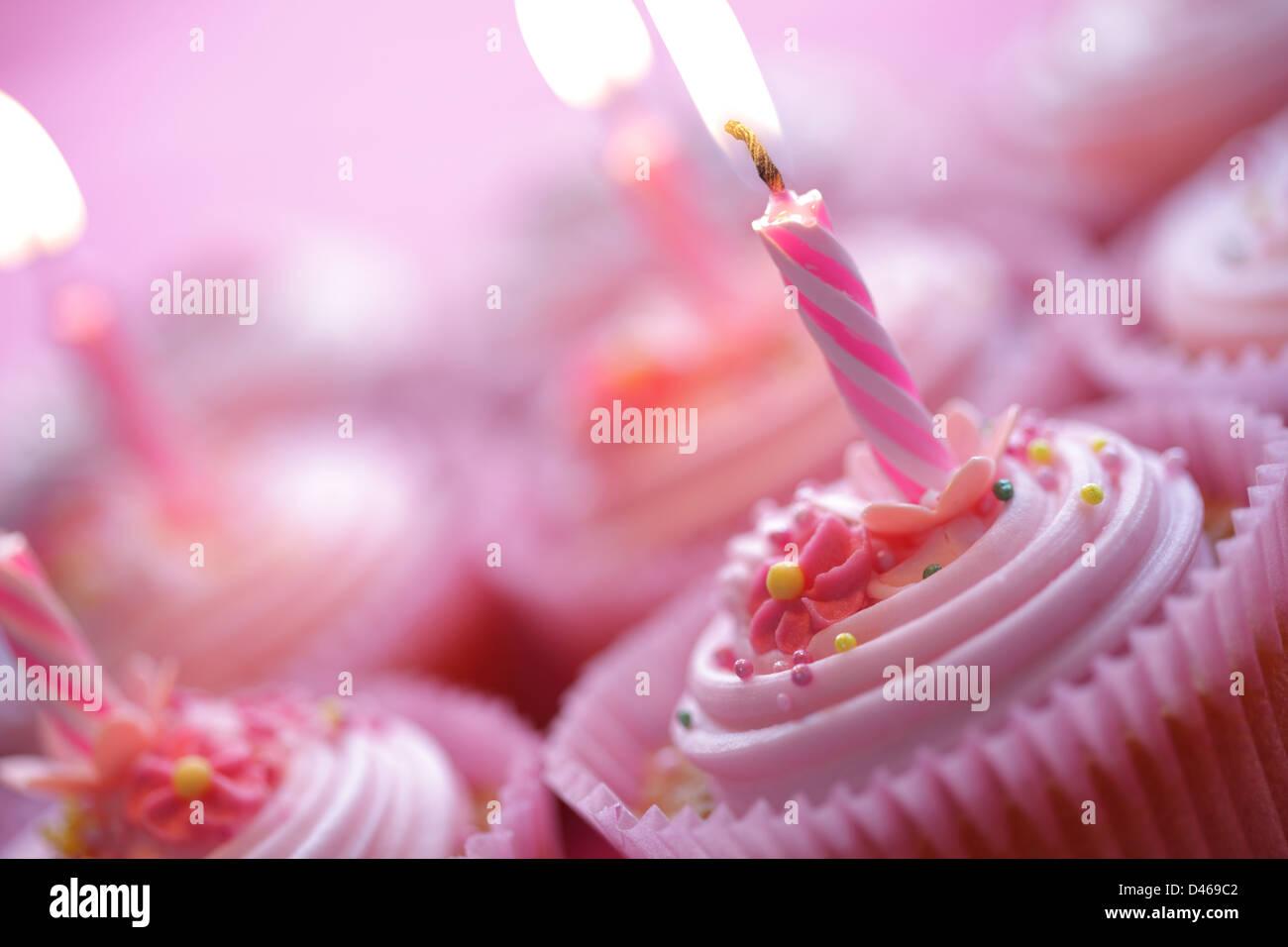 Tortini di compleanno Immagini Stock