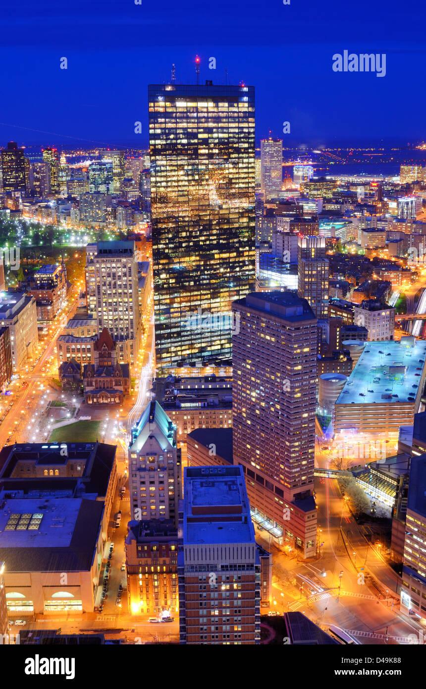 Vista aerea del centro cittadino di Boston, Massachusettes, STATI UNITI D'AMERICA. Immagini Stock