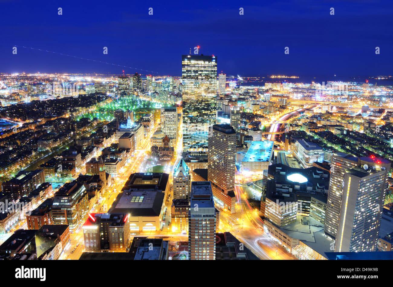 Vista aerea del centro cittadino di Boston, Massachusetts, USA. Immagini Stock