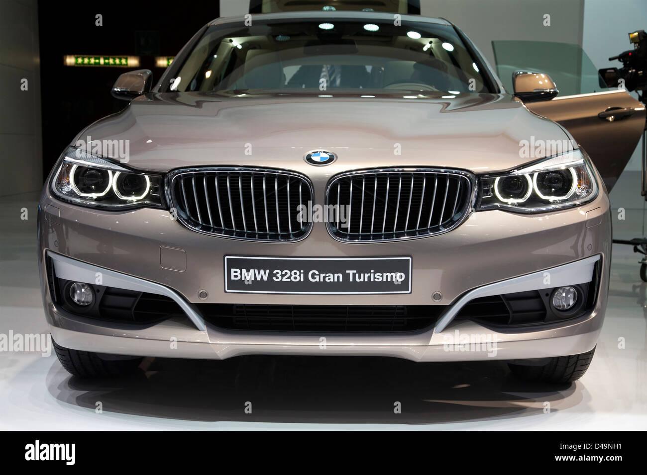 BMW 328i Gran Turismo. Ginevra Motor Sow 2013 Immagini Stock