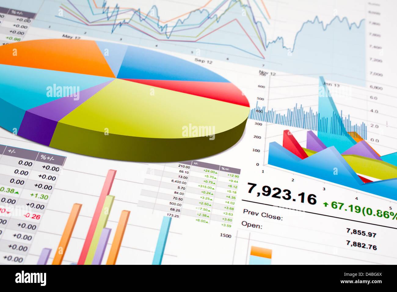 Grafici e diagrammi Immagini Stock