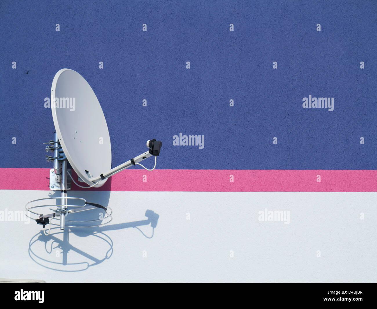 Parabola satellitare Immagini Stock