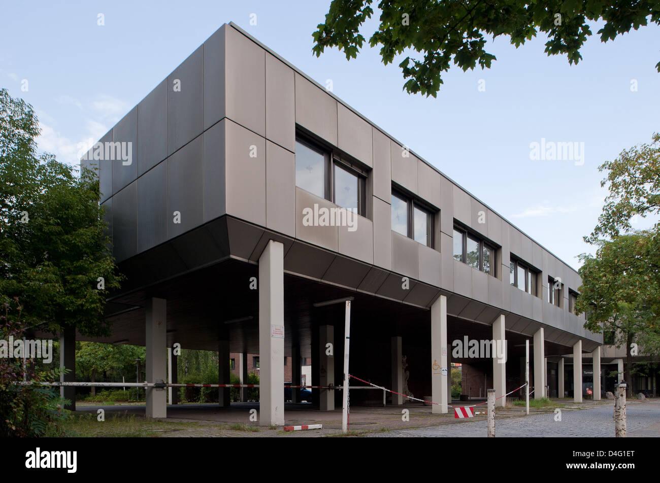 Berlino, Germania, 70's estensione all'ex ospedale Moabit Immagini Stock