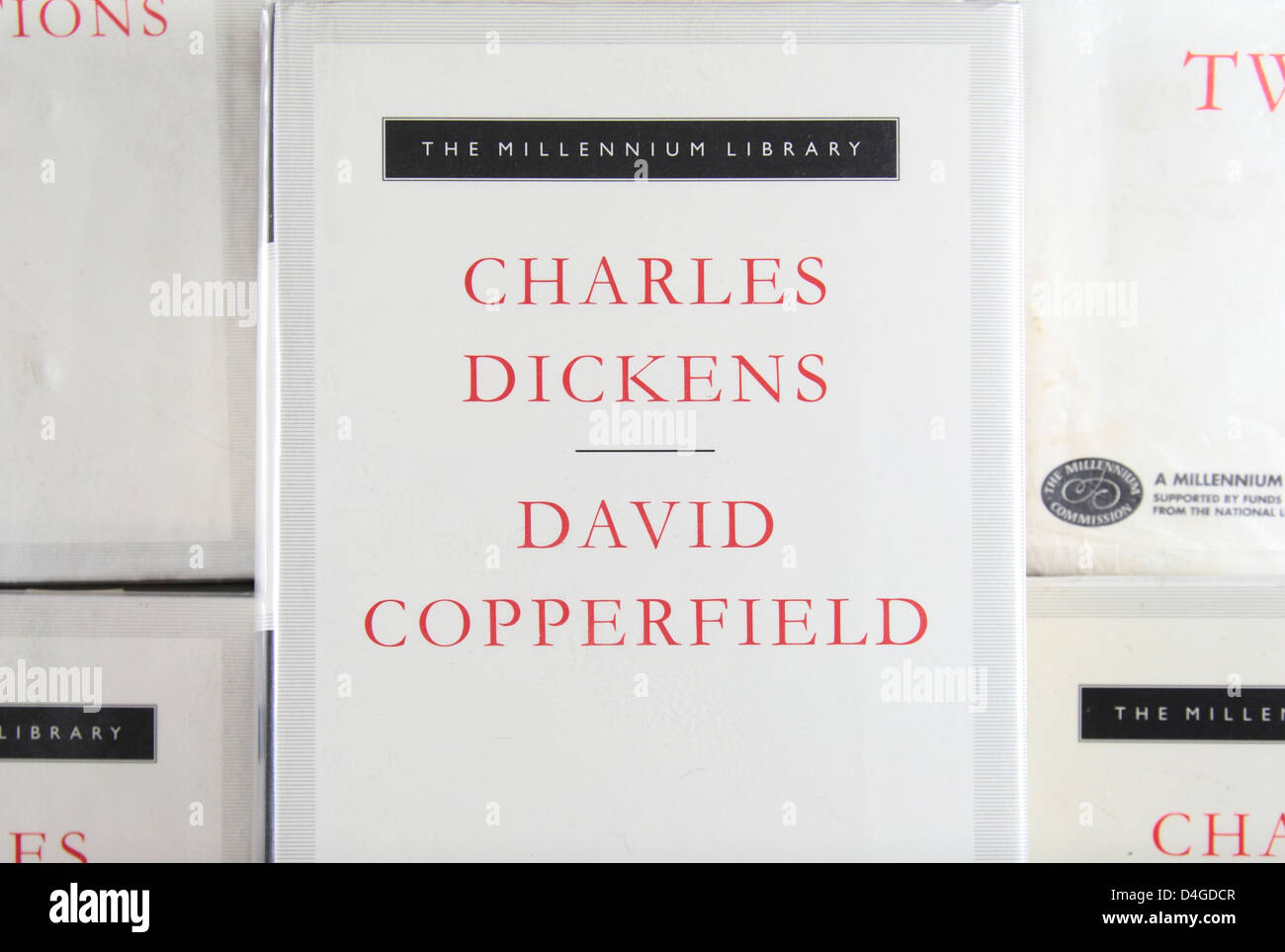 Close up di una copertina di un libro di 'David Copperfield' di Charles Dickens, parte dell'Everyman Immagini Stock