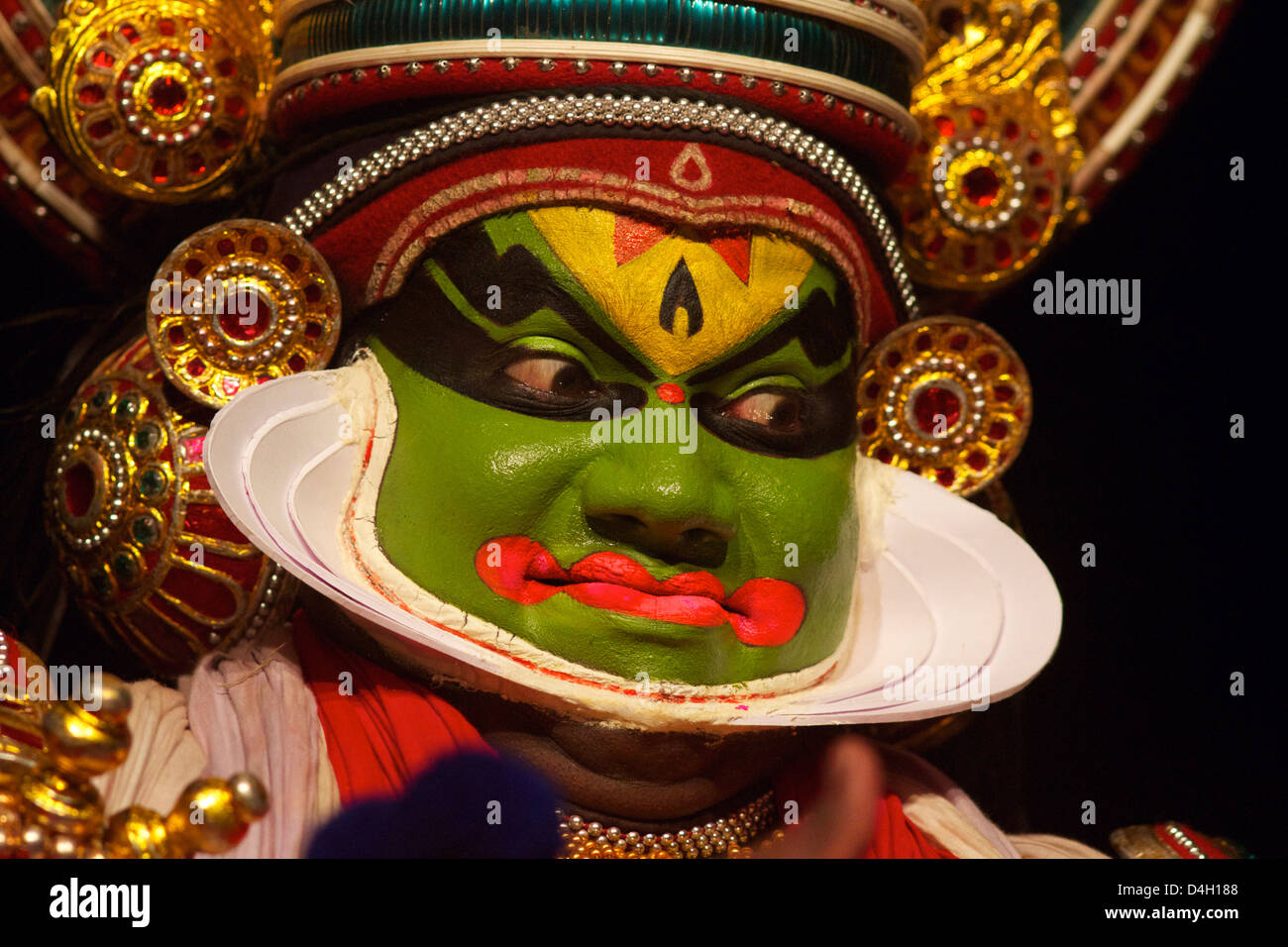 Spettacolo di Kutiyattam, teatro indiana di Kochi, in Kerala, India Immagini Stock
