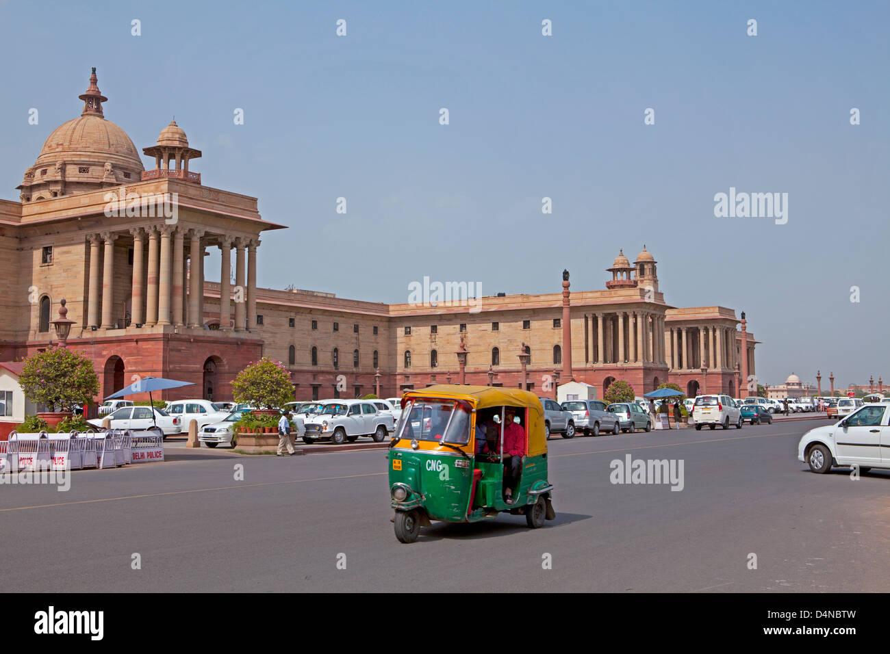 Rashtrapati Bhavan (Hindi per Presidente Casa) è la sede ufficiale del Presidente dell India. New Delhi, India Immagini Stock