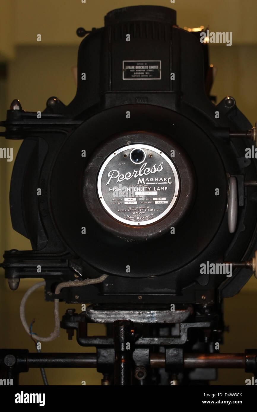 Una ineguagliabile Magnarc lampada ad alta intensità per l'uso con inizio del XX secolo i proiettori di Immagini Stock