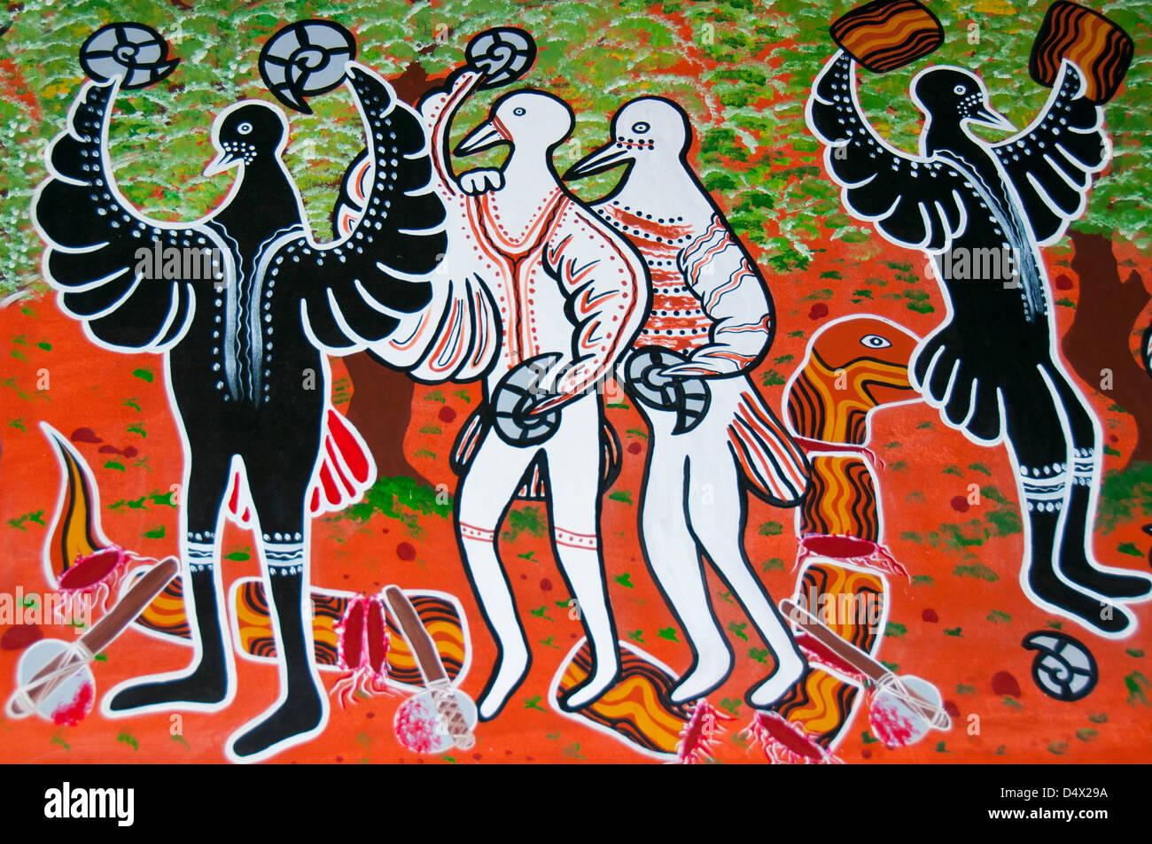 Arte aborigena Immagini Stock