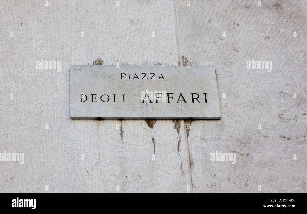 565c9297b8 Piazza degli Affari strada segno a Milano. La Piazza degli affari indirizzo  della Borsa di