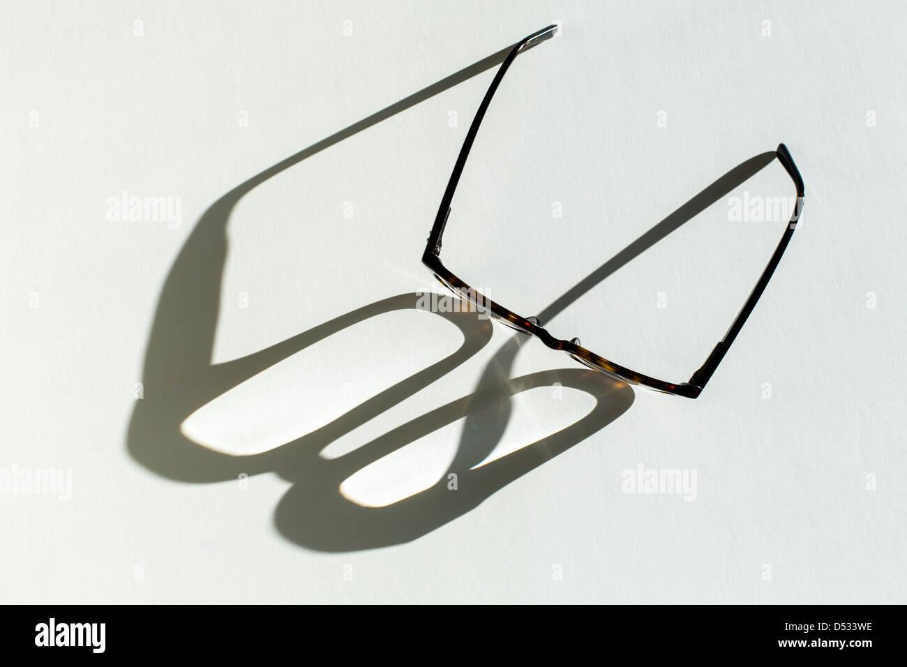 Occhiali ombra di colata Immagini Stock