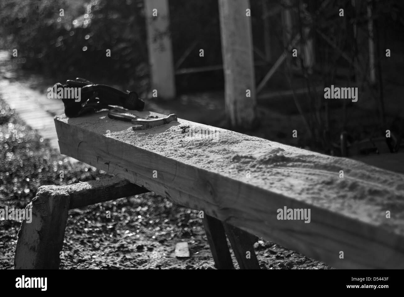 Legno Bianco E Nero : Cucina in vetro laccato bianco e nero piano snack in legno