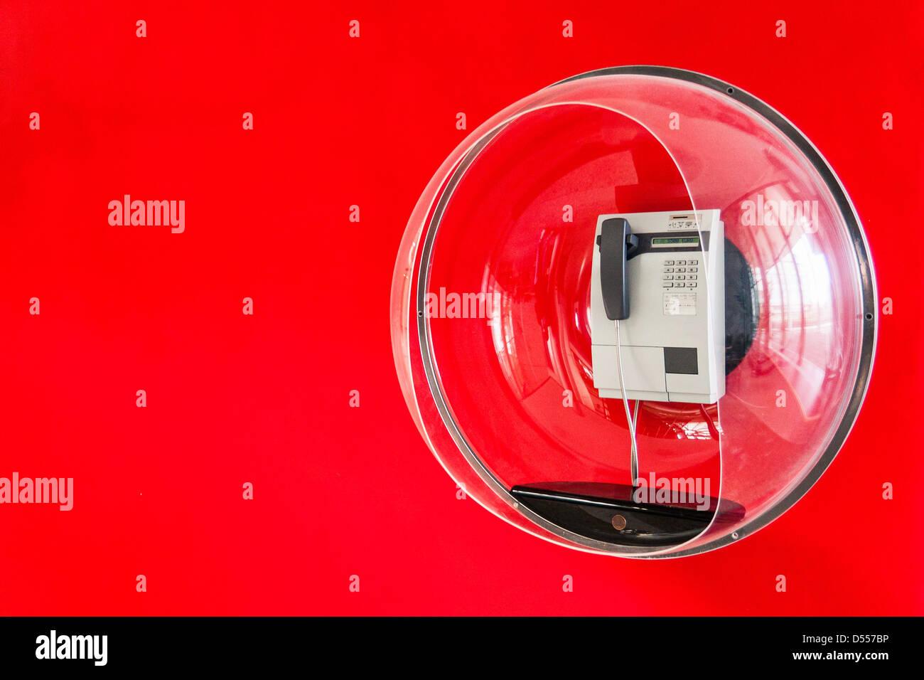 Telefono decorativo in bolla di plastica Immagini Stock