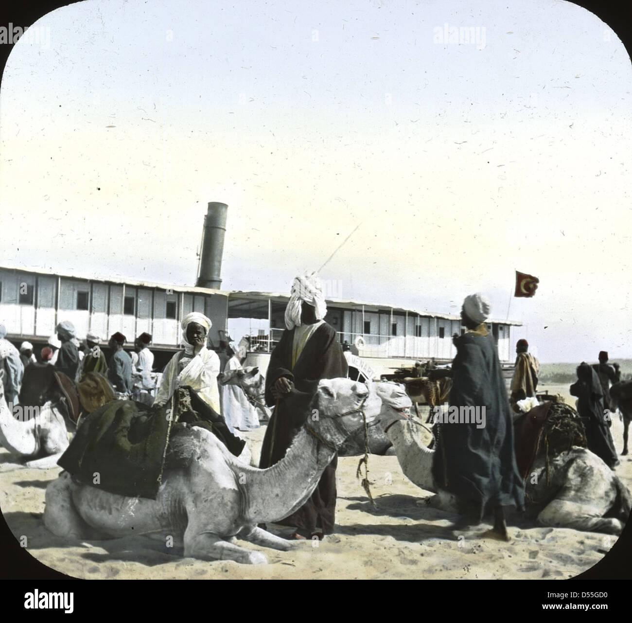 Egitto: vaporetto landing [?]. Immagini Stock
