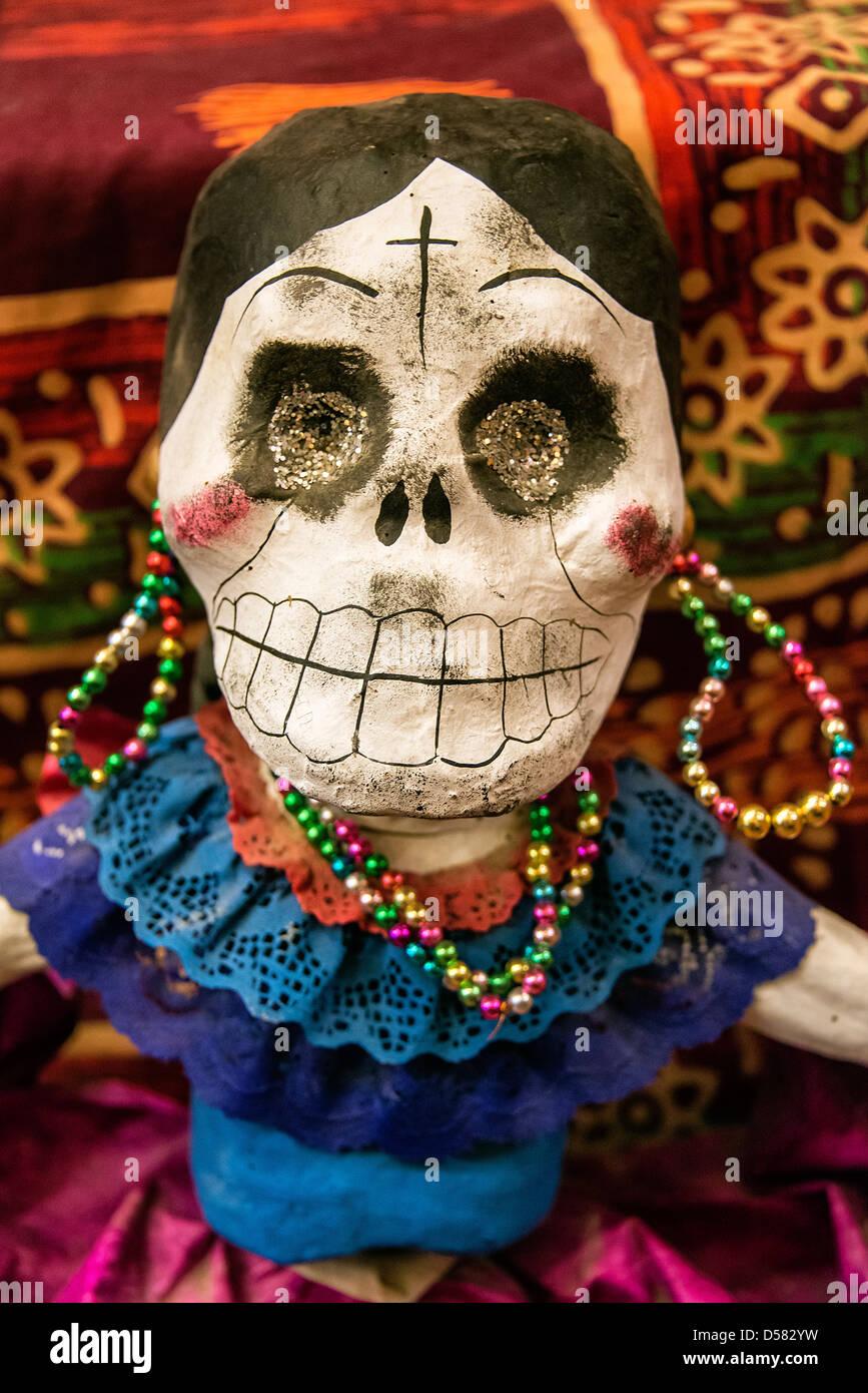 Catrina figura, il giorno dei morti, Messico Foto Stock