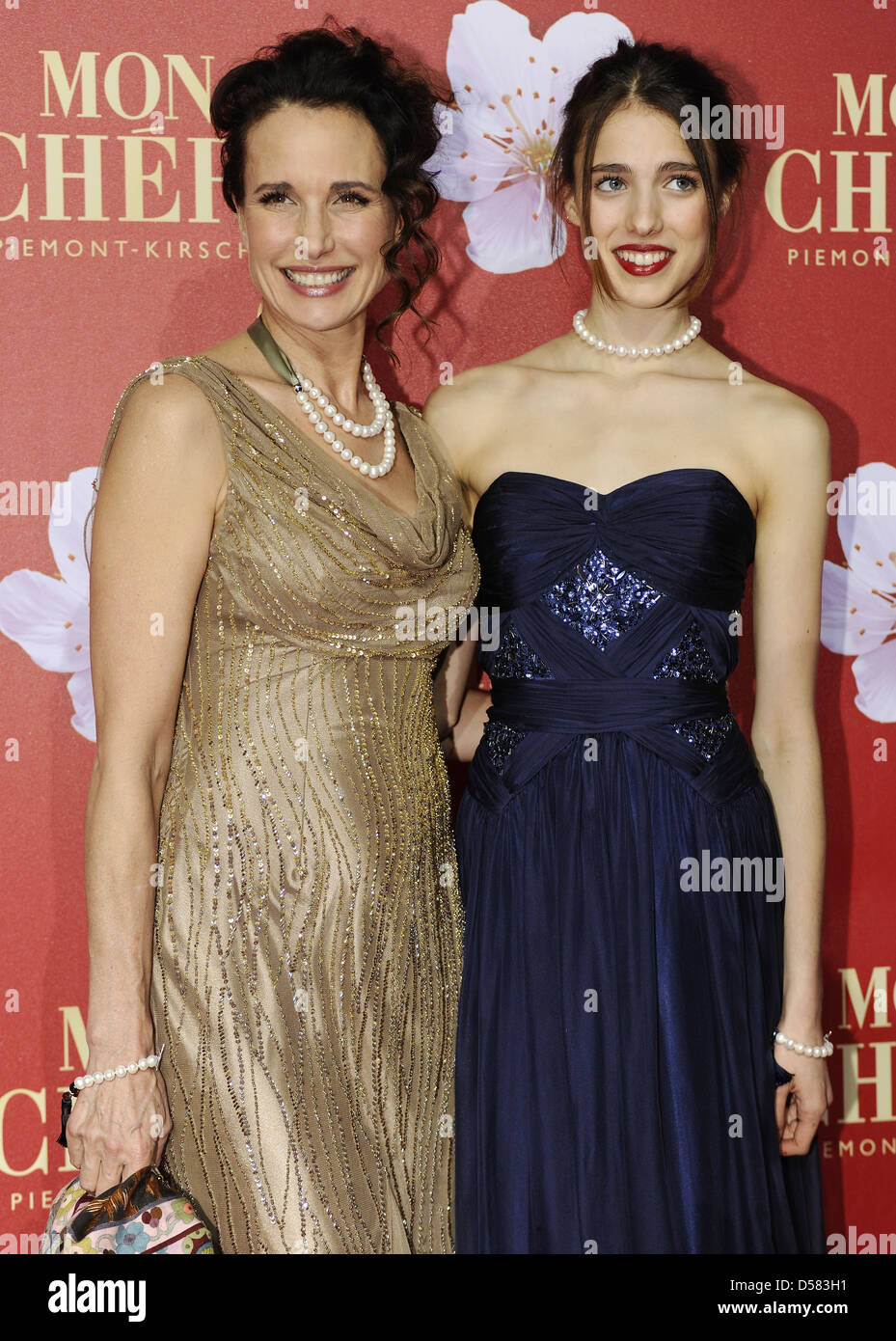 Andie MacDowell e sua figlia Sarah Margaret Qualley al Mon